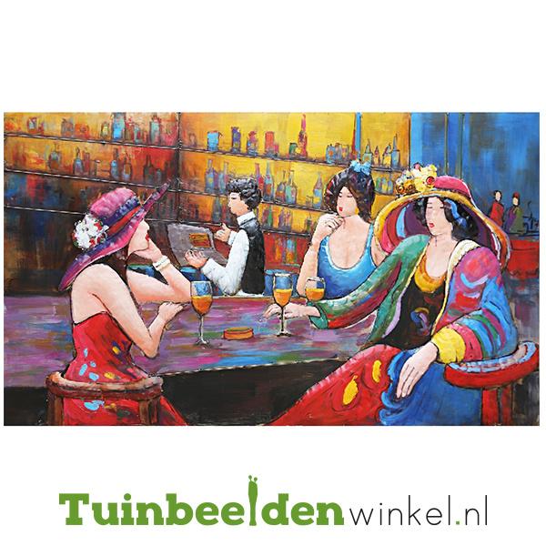 """Metalen schilderij """"Drie vrouwen op stap"""" TBW001442"""