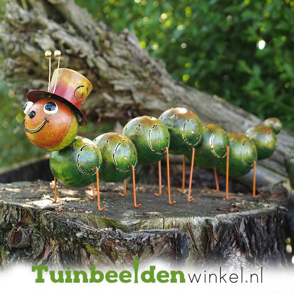 Metalen tuinbeeld figuur ''De vrolijke rups'' TBW16105