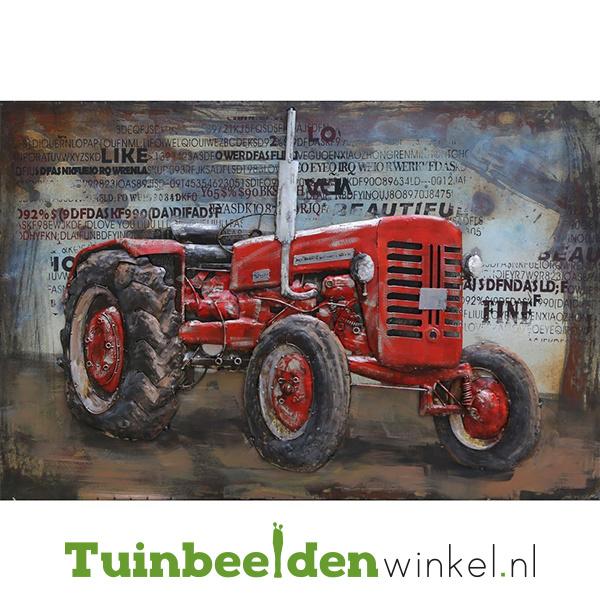 """3D schilderij """"De rode tractor"""" TBW000883"""