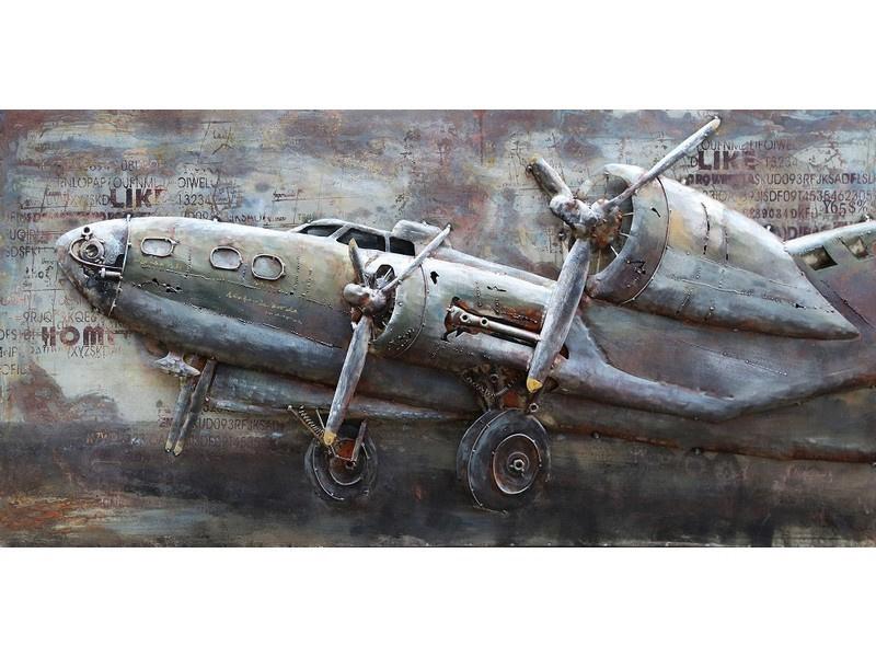 3d schilderij quot propellor vliegtuig quot tbw000721 70x140 cm