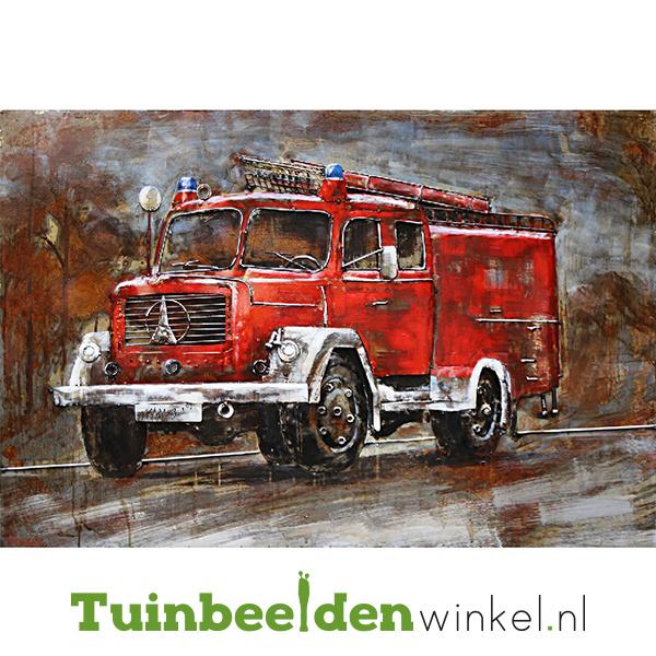 """3D schilderij """"De rode brandweerauto"""" TBW001031"""