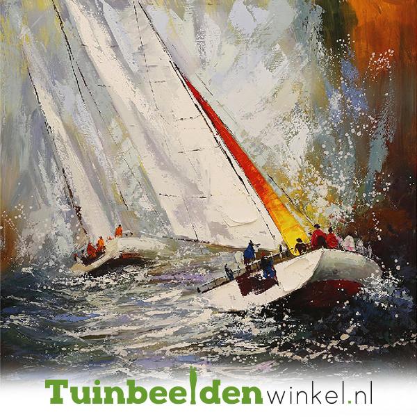 Boot schilderij ''Zeilen op de wilde zee'' TBW003818