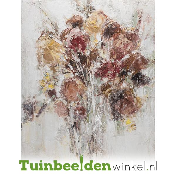 Olieverf schilderij bloemen ''Bos bloemen'' TBW60021