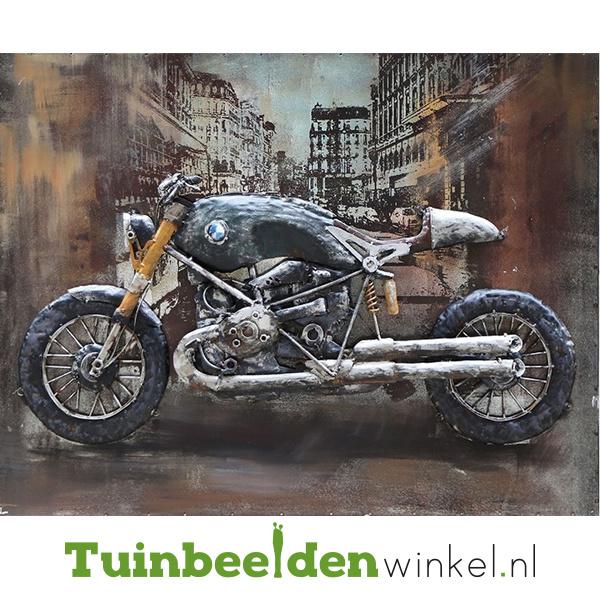 """Metalen schilderij """"De zwarte motor"""" TBW000662"""