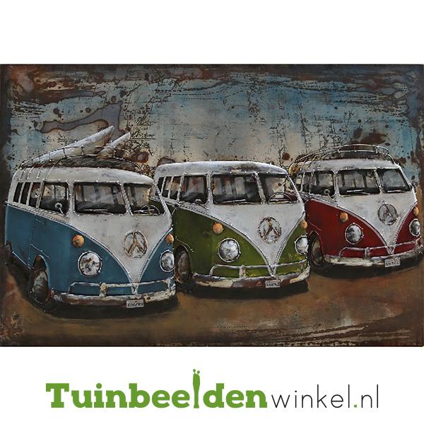"""3D schilderij """"De drie volkswagenbusjes"""" TBW000755"""