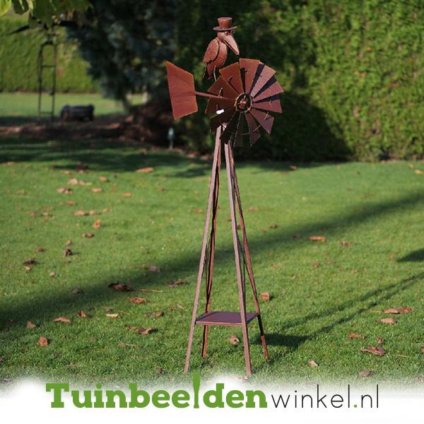 Metalen tuinbeeld figuur ''De mysterieuze kraai'' TBW17238