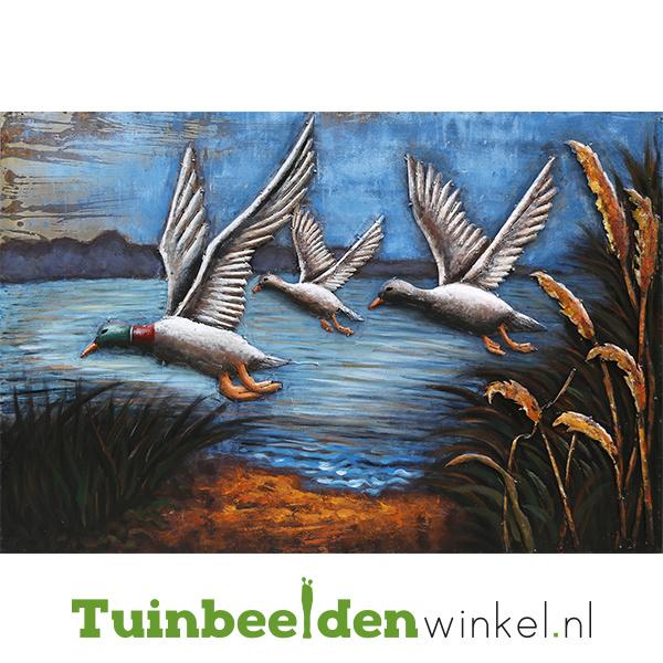 """Metalen schilderij """"Vliegende eenden"""" TBW80120050sc"""