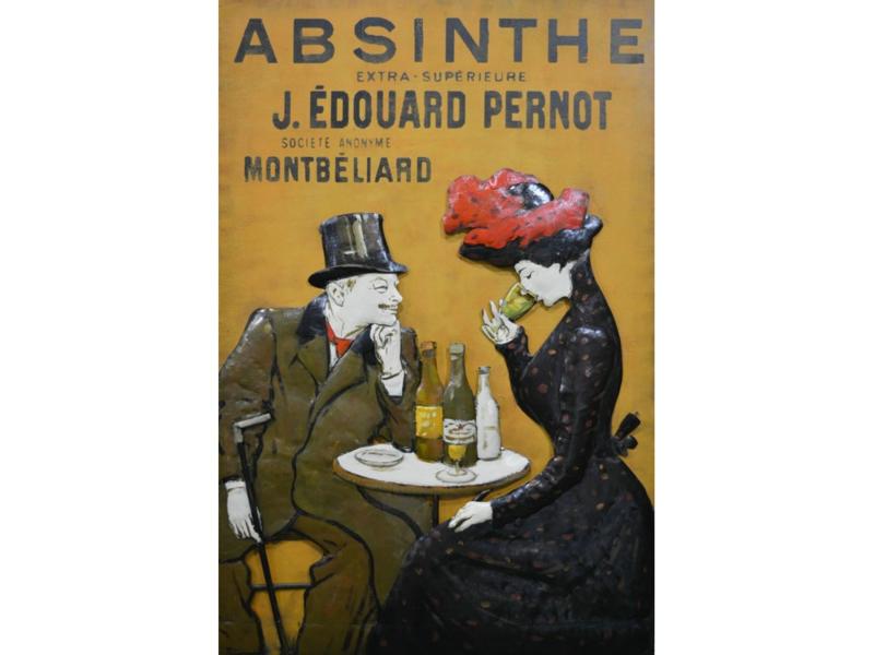 "Metalen schilderij ""Absinthe"" TBW001800sc"