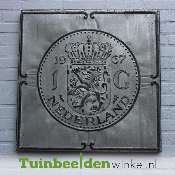 """Zinken schilderij """"De gulden 1968"""" TBW002zksc"""