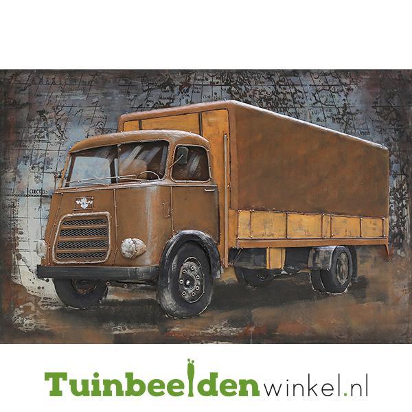 """Metalen schilderij """"De vrachtwagen"""" TBW80120071sc"""