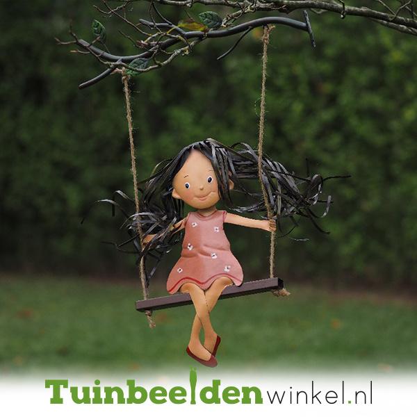 Metalen figuur ''Het schommelende meisje'' TBW12107