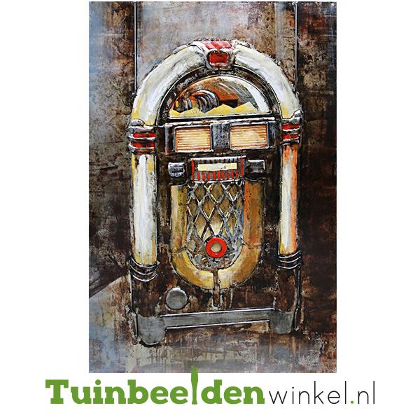 """Metalen schilderij """"De jukebox"""" TBW001153sc"""