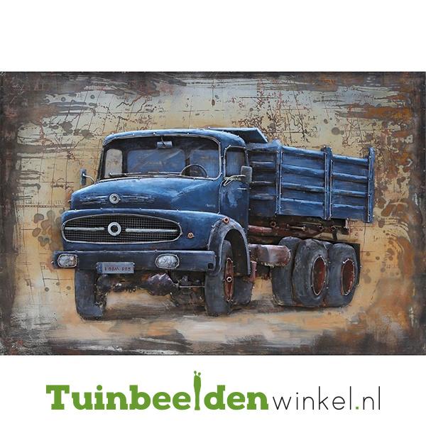 """3D schilderij """"De blauwe vrachtauto"""" TBW000743"""