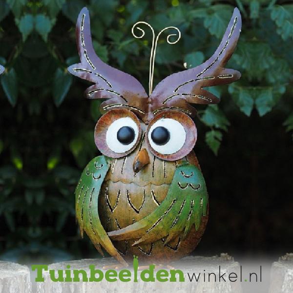 """Metalen uil """"De schattige uil"""" TBW16012me"""