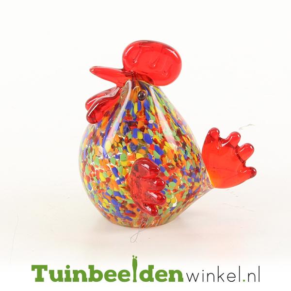 Glazen beeldje ''De vrolijke kip'' TBW62me
