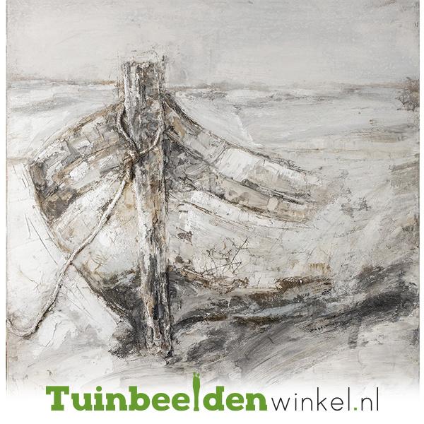 Olieverf schilderij ''De sloep'' TBW60028