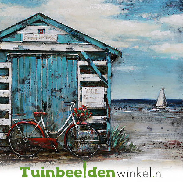 3D schilderij ''Het strandhuisje'' TBW001227