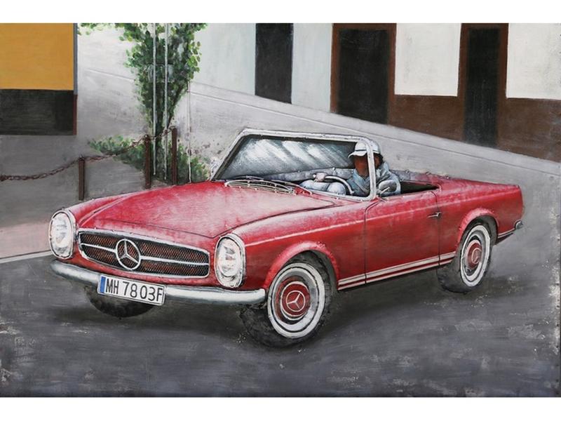 "3D schilderij ""Rode Cabrio"" TBW001884sc"