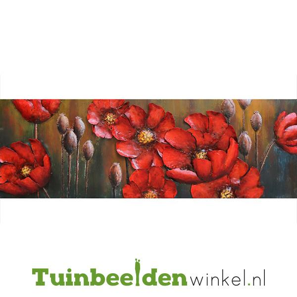 """3D schilderij """"Rode bloemen"""" TBW000893"""
