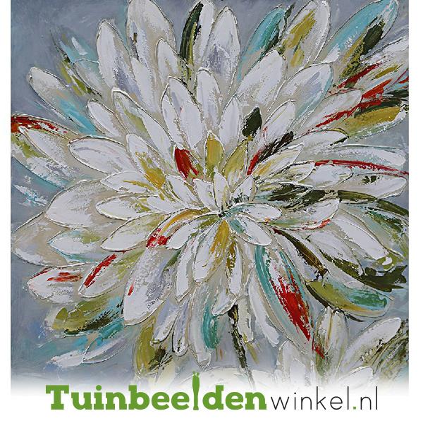 Olieverf schilderij bloemen ''Gekleurde bloem'' TBW006010
