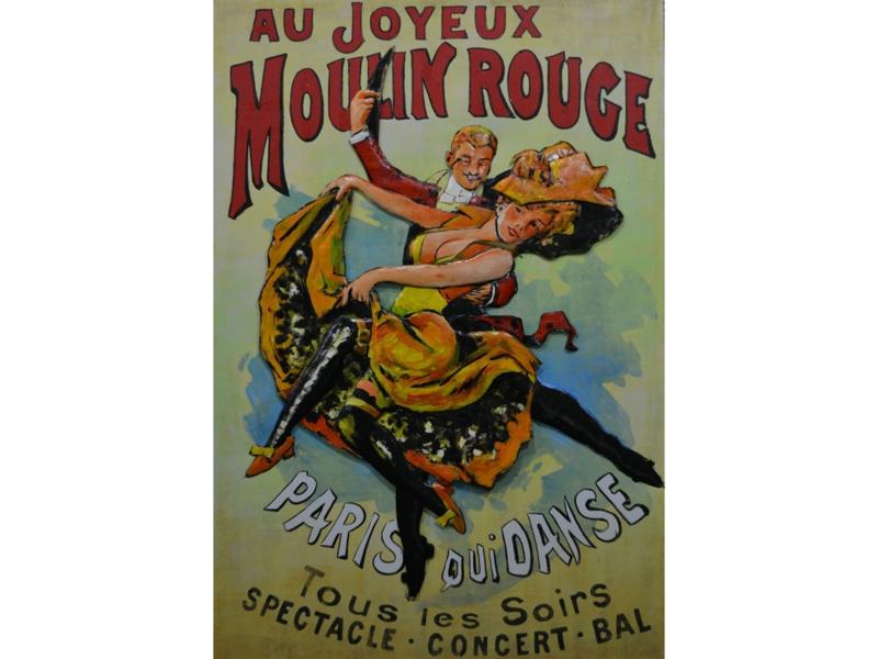 """Metalen schilderij """"Moulin Rouge"""" TBW001801sc"""