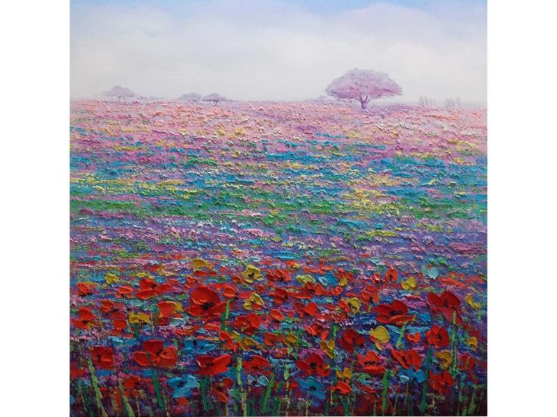 """Bloemen schilderij """"Het bloemenveld"""" TBW3285ksc"""