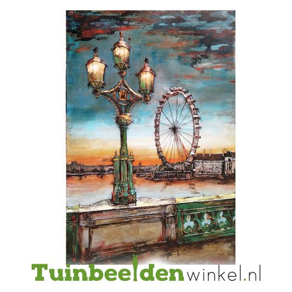 """Metalen schilderij """"Het reuzenrad"""" TBW001244"""