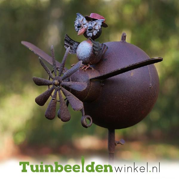 Metalen uil ''De geestige uil'' TBW17027
