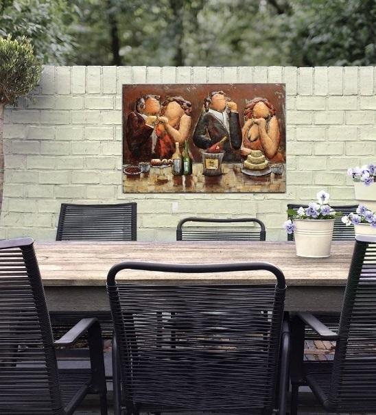 tuinschilderij kopen, tuinschilderijen