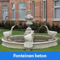 Grote fonteinen en muurfontein