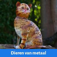 Overige metalen dieren voor in de tuin, metalen siervogels