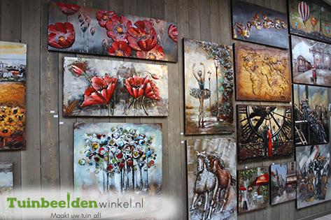 Tuinschilderijen voor in de tuin