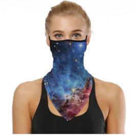 Sjaal - colsjaal - mondmasker - fietsmasker fashion sterren