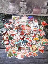 50 stuks stickers kerst 6x5,5 cm