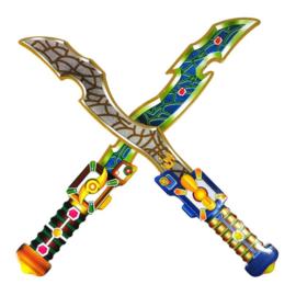 2 stuks stoere foam zwaarden 42cm lang