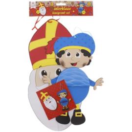 Sinterklaas feest decoratie sint en piet honinggraat