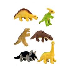 3 stuks pluche dinosaurussen