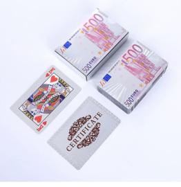Luxe zilverkleur Speelkaarten  / Poker kaarten waterdicht Geplastificeerd