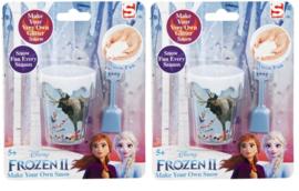 2 setjes Frozen sneeuwmaken set - glittersneeuw