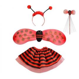 4 delige lieveheersbeestje kostuum 3 tot 5 jaar