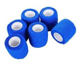 4 rollen zelfklevende elastische bandage tape blauw