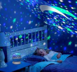 Lichtprojector sterrenhemel USB aansluiting nachtlamp