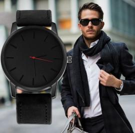 Luxe herenhorloge met grote wijzerplaat