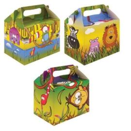 6 stuks menubox Jungle 14 x 9.5 x 18 Cm