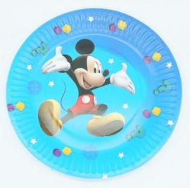 10 kartonnen bordjes Mickey Mouse