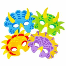 10 stuks foam maskers Dinosaurussen