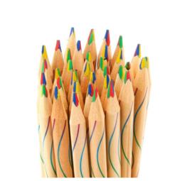10 stuks houten regenboog potloden