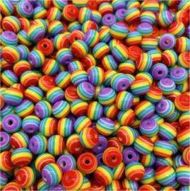 300 stuks regenboog kralen acryl 6mm