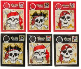 6 stuks schuifpuzzel piraat - uitdeelcadeautjes