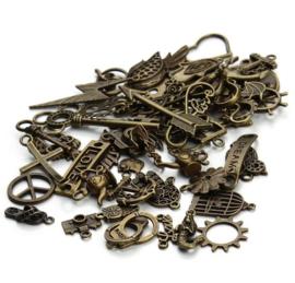 50 stuks bedels antiek brons